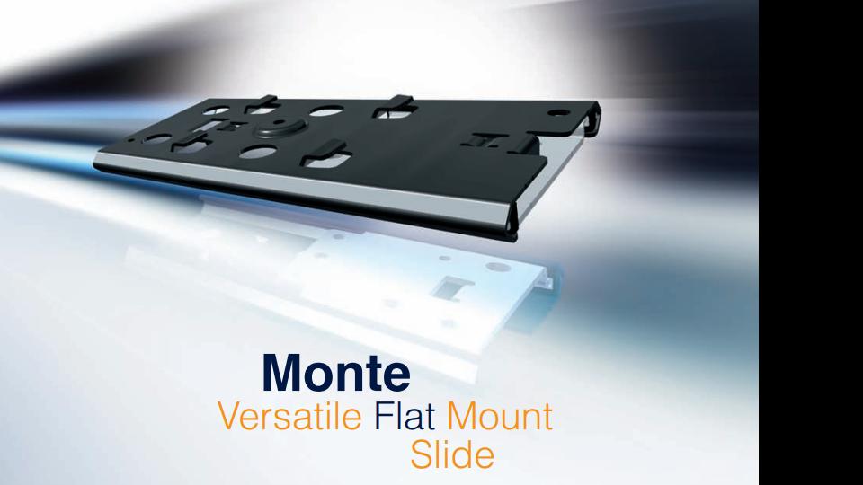 Monte - glissière polyvalente à montage plat | Thomas Regout International B.V.